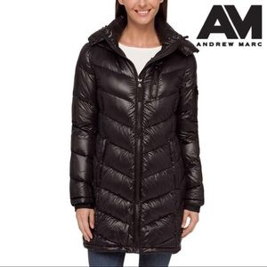 ANDREW MARC Packable Premium 650 Fill Down Coat